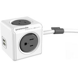 allocacoc PowerCube Extended USB (5', Gray)