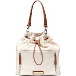 Kelly Moore Bag Austin Bag (Bone with Brown Trim)