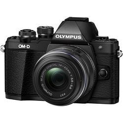 Olympus OM-D E-M10 Mark II Mirrorless Micro Four Thirds Digital Camera with 14-42mm II R Lens (Black)