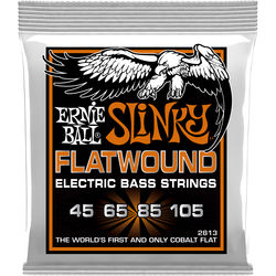 Ernie Ball Hybrid Slinky Flatwound Electric Bass Strings (4-String Set, .045 - .105)