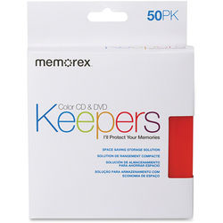 Memorex CD/DVD Keepers (Assorted Colors, 50-Pack)