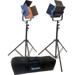Bescor AL-576KB LED Studio 2-Light Battery Kit