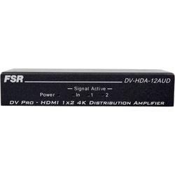 FSR 1x2 HDMI Distribution Amplifier with Audio De-Embedder