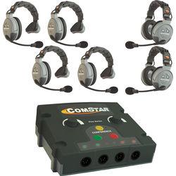 Eartec COMSTAR Flex Max Series 6-User Full Duplex Intercom System