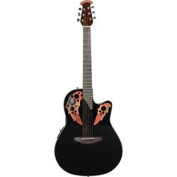 Ovation Celebrity Elite Series CE44-5 Acoustic/Electric Guitar (Black)