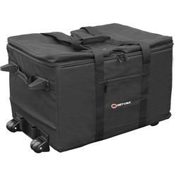 Odyssey Innovative Designs Redline Series Utility Shuttle Bag with Pullout Handle and Wheels (Black)