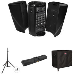 Fender Passport EVENT Kit with Speaker Stands and Carrying Bags