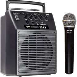 Nady WA-120BT VHF Portable Wireless PA Full-Range Bluetooth Speaker System (D: 209.15 MHz)