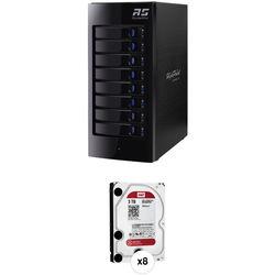 HighPoint RocketStor 6318A 24TB (8 x 3TB) 8-Bay Thunderbolt 2 RAID Enclosure with Drives