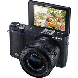 Samsung NX3300 Mirrorless Digital Camera with 20-50mm Lens (Black)
