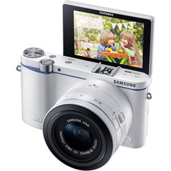 Samsung NX3300 Mirrorless Digital Camera with 20-50mm Lens (White)