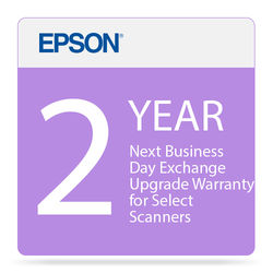 Epson 2-Year Next Business Day Exchange Upgrade Warranty for Select Scanners