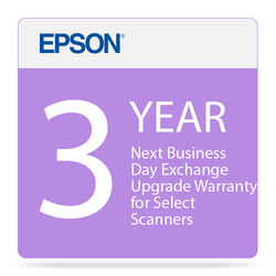 Epson 3-Year Next Business Day Exchange Upgrade Warranty for Select Scanners