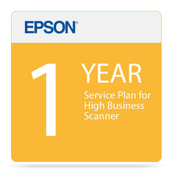Epson 1-Year Service Plan for High Business Scanner