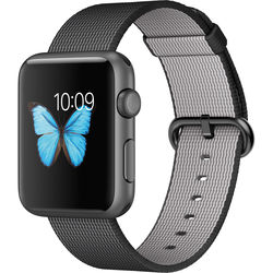 Apple Watch Sport 42mm Smartwatch (2015, Space Gray Aluminum Case, Black Woven Nylon Band)