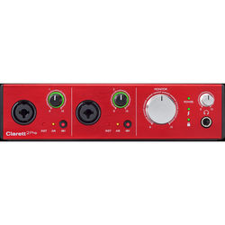 Focusrite Clarett 2Pre - Thunderbolt Interface with Clarett Microphone Preamps