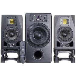 Adam Professional Audio A3X Nearfield Monitors (Pair) and Sub7 Subwoofer Speaker Bundle