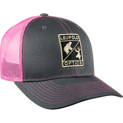Leupold Trucker Hat (Charcoal/Pink, One-Size)