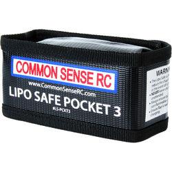 "Common Sense RC LiPo Safe Pocket 3 Charging/Storage Bag for 3S LiPo Battery (5.0 x 2.5 x 2.0"")"