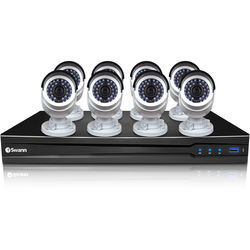 Swann 16-Channel 3MP NVR with 3TB HDD and 8 3MP Bullet Cameras Kit