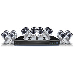 Swann 16-Channel 3MP NVR with 3TB HDD and 16 3MP Bullet Cameras