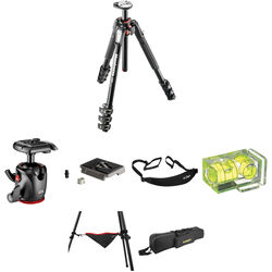 Manfrotto MT190XPRO4 Aluminum Tripod with MHXPRO-BHQ2 XPRO Ball Head Deluxe Kit