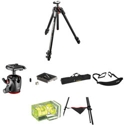 Manfrotto MT055CXPRO3 Carbon Fiber Tripod with MHXPRO-BHQ2 XPRO Ball Head Deluxe Kit