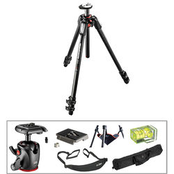 Manfrotto MT055CXPRO3 Carbon Fiber Tripod Kit with MHXPRO-BHQ2 XPRO Ball Head with 200PL Quick Release System