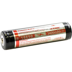 SeaLife XTAR 18650 Rechargeable Lithium-Ion Battery (3.6V, 3400mAh)