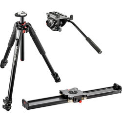 """Manfrotto Camera Slider 60cm and Tripod Kit with MVH500AH Fluid Head (23.6"""")"""