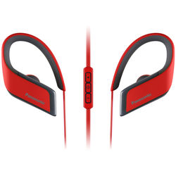 Panasonic RP-BTS30-R Wings Wireless Bluetooth Sport Clips with Mic & Controller (Red)
