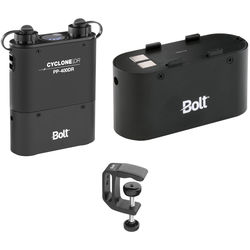 Bolt Cyclone DR PP-400DR Dual Outlet Power Pack Kit with Spare Battery & Clamp