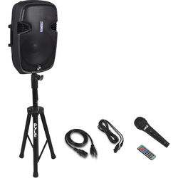 """Pyle Pro PPHP155ST 15"""" 1500W Bluetooth Portable PA Loudspeaker System with 35mm Speaker Stand"""