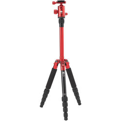 Sirui T-005X Aluminum Tripod with C-10S Ball Head (Red)