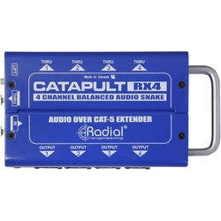 Radial Engineering Catapult TX4M 4-Channel Transmitter/Mic Level/ with Balanced Outs/Cat5