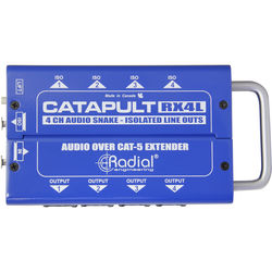 Radial Engineering Catapult RX4L 4-Channel Receiver/Line Level/with Balanced Outs/Cat5