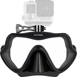 OCTOMASK Frameless Scuba Mask for GoPro Camera (Black)