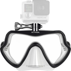 OCTOMASK Frameless Scuba Mask for GoPro Camera (Clear)