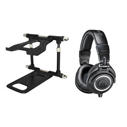 Audio-Technica ATH-M50X Monitor Headphones and Crane Elite Laptop Stand Kit