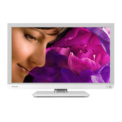 """Toshiba D1334G-Series 24""""-Class Multi-System LED TV with Built-In Region-Free DVD Player (White)"""
