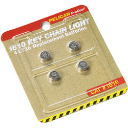 Pelican 1819 Replacement L736 Batteries for 1810 Keychain Light (4-Pack)