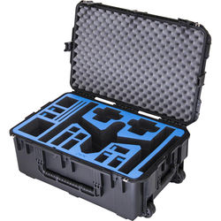 Go Professional Cases GPC-DJI-INSPIRE-1-T-X5 Watertight Hard Case with Wheels for DJI Inspire 1 in Travel Mode