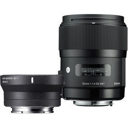 Sigma 35mm f/1.4 DG HSM Art Lens for Sigma SA and MC-11 Mount Converter/Lens Adapter for Sony E Kit