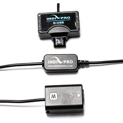 """IndiPRO Tools Mini-Tap to Sony NP-FW50-Series Type Battery Dummy (30"""")"""