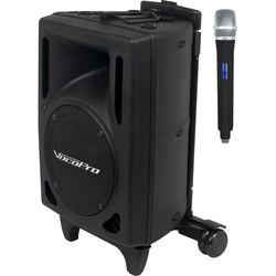 VocoPro Wireless Performer, Powered Vocal Speaker & UHF Wireless Handheld Microphone