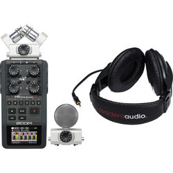 Zoom H6 Handy Recorder Kit with Resident Audio R100 Headphones