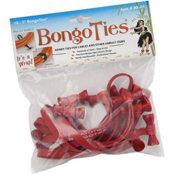 BongoTies BongoTies (10-Pack, Red)