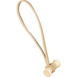 """BongoTies Bamboo 5"""" Elastic Cable Ties (10 Pack) - Natural"""