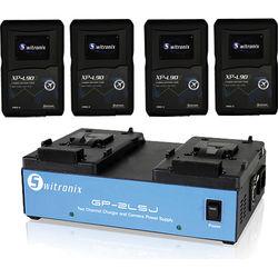 Core SWX 4x XP-L90S V-Mount Batteries & Two-Position Charger Kit
