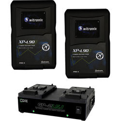 Switronix XPL-90SK V-Mount Battery and Charger Kit